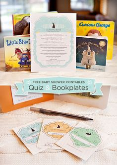 10 Creative Children's Book Themed Baby Shower Ideas + Free Printable Quiz & Bookplates // Hostess with the Mostess®