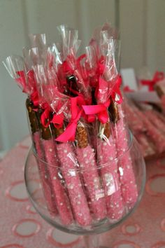 Chocolate covered Pretzel Rods A Beautiful display pic (from a customer)  Visit Marie Grahams at Etsy.com to see more.