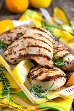 Citrus Grilled Chicken - Just a few simple, fresh ingredients gives this grilled…