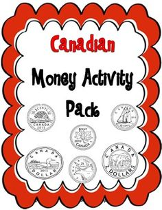 Money Canadian Coins Pack A ton of great activities using Canadian Coins! Canadian Coins, Money Activities, Sorting Activities, Coin Sorting, Learning Money, Math Task Cards, Primary Maths, Help Teaching