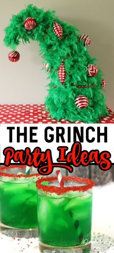 How to throw The Best Grinch Party around! These Grinch Party Ideas are the greenest, meanest, Grinch inspired recipes, crafts and more! Grinch Christmas Decorations, Grinch Christmas Party, Grinch Ornaments, Christmas Mom, Christmas Crafts, Christmas Recipes, Christmas Ornament, Christmas Ideas, Office Christmas