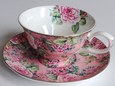 Lovely Edwardian Collection tea cup and saucer by JoyJoeTreasures, $28.00