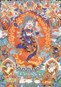 Tibetan Buddhist Thangka of Simhamukha, The Lion-headed Dakini