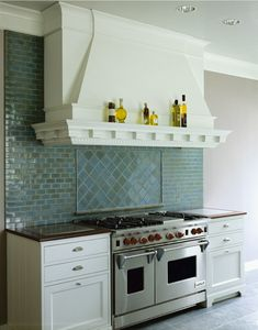 #yourcarpenter #yourcabinetry #custom #kitchen #bathroom #AnnSacks #tile # blue #green #ocean #eclectic #trendy #whitecabinets