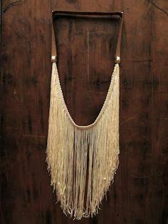 Runaway Thrift: DIY Fringe Studded Leather Necklace