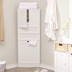 Bathroom Floor Corner Cabinet