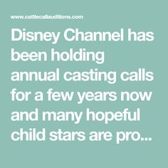 Sample Disney Channel Audition Scripts | cattle call auditions
