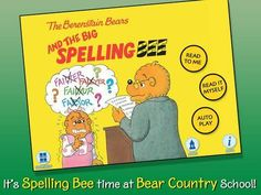 Discount: The Berenstain Bears and the Big Spelling Bee by Oceanhouse Media (Old Price: 3.99$, New Price: 2.99$) - an interactive version of the Berenstain Bears book by Stan and Jan Berenstain http://www.appysmarts.com/application/the-berenstain-bears-and-the-big-spelling-bee,id_517.php