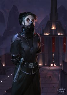 Girl from Star Wars universe, commission for Sephe! Star Wars Characters Pictures, Images Star Wars, Star Wars Pictures, Star Wars Sith, Star Wars Rpg, Star Wars Concept Art, Star Wars Fan Art, Female Sith, Darth Bane