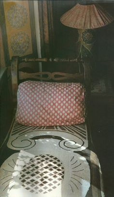 day bed in the bedroom of Duncan Grant. Charleston