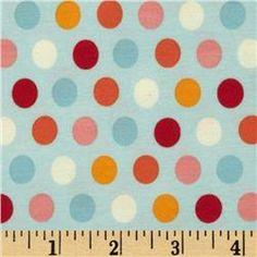 Riley Blake Cotton Jersey Knit Just Dreamy 2 Dots Blue