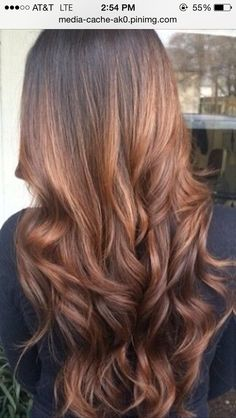 Ombré with red tint
