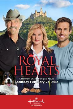 """""""Royal Hearts"""" - James Brolin stars and directs this story about family, romance and hidden royalty! The secrets unfold on February 24 at 9/8 on Hallmark Channel. #RoyalHearts #HallmarkChannel"""