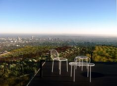 Family chairs by Living Divani in the Hollywood hills