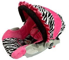 custom pink and zebra car seat cover