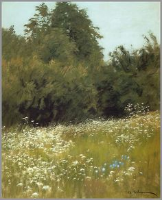 Issac Levitan,  'Meadow at the edge of a Forest