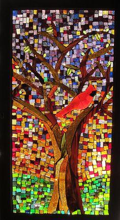 Tree 2.....14x27 glass on glass mosaic