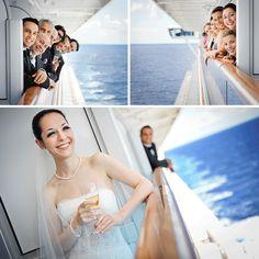 Cute photo idea of bridal party   de Belle Photography » Destination wedding in Hawaii – Juanita & Marco cruise wedding picture ideas
