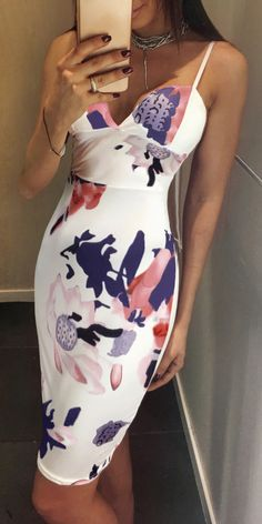 Only $29.99! Fashion Floral Print Sleeveless Halter Bodycon Dress