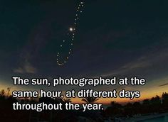 """This curve is called an """"analemma"""" and it occurs because of our elliptical and tilted orbit around the sun."""