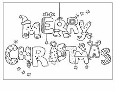 7 Best Merry Christmas Coloring Pages Images Coloring Books