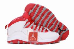 wholesale dealer 11536 963da Nike Air Jordan 10 X Retro Mens Shoes White   Varsity Red   Steel Grey All  kinds of Cheap Nike Shoes are provided in Nike store with superior quality  and ...