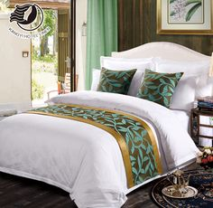 Hotel Quality Customized Bed Runners For Hotel And Home Used