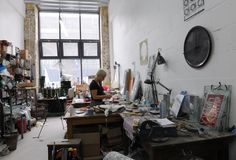 Artist Eryka Isaak in her studio at Childers Street. Photo: Hugo Glendinning (2011)