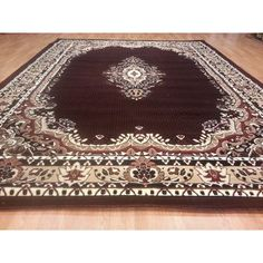 Rug Tycoon Hand-Carved Brown Area Rug Rug Size: