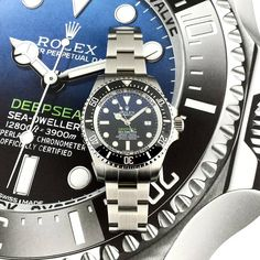 #Rolex #Deepsea Sea-Dweller ref.#116660 with the now iconic D-Blue dial. Made famous by Director James Cameron, for his #dive to the Mariana Trench in 2012, the #DBlue was unveiled at the American Museum Of Natural History. Complete with box and papers dated 2016.