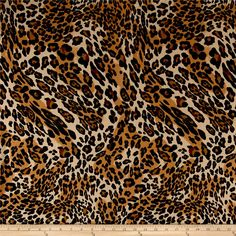 Prowl Flannel Animal Print Brown from @fabricdotcom  Designed for Newcastle Fabric, this double napped (brushed on both sides) flannel is perfect for quilting, apparel and home decor accents. Colors include shades of brown and black.