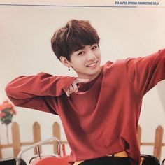He looks like a little baby in this picture:) Its so cute!  This is why Jungkookie-ah is my bias!