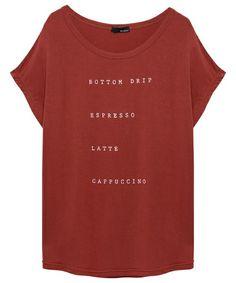 Re:EDIT(リエディ)の[Re:EDIT/リエディ][春夏新作]BOTTOMロゴタイプとろみ生地ドルマントップス/カットソー/Tシャツ(Tシャツ/カットソー)|レッド