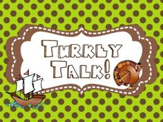 Talkin' Turkey { Kindergarten Common Core Math and Literacy...great for November!