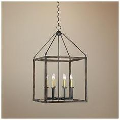 Cayden 20 Antique Brass and Bronze 1/4-Inch Foyer Chandelier