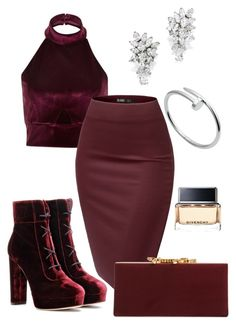 """""""Untitled #9"""" by ivaaaapoool55 ❤ liked on Polyvore featuring River Island, Jimmy Choo, Cartier and Givenchy"""