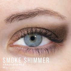 Smoke Shimmer ShadowSense by SeneGence is a Limited Edition eyeshadow part of the Smoky Neutrals Collection.  It is a deep dusty brown with a shimmery finish that will add depth/drama to your eyes.  #smokeshimmer  #senegence #shadowsense #smoke