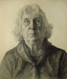 portrait made at Ventzi School of Drawing