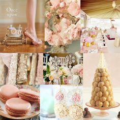 blush & champagne - love these colors!