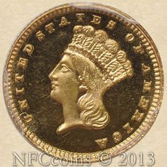 1885 Gold Indian Dollar PR65 PCGS Cameo, obverse.