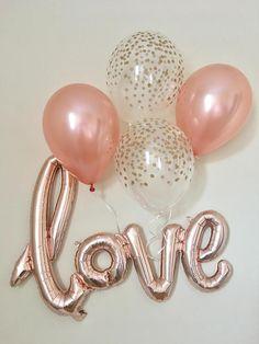 Love Rose Gold Script BalloonRose Gold BalloonsWedding