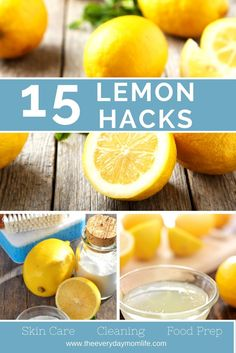 Lemons are tasty to eat but also can provide a lot of natural cleaning solutions for your home. Check out these 15 lemon hacks and find natural cleaning solutions for your household.