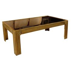 1970's Large Bronze Coffee Table BY PETER GHYCZY