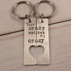 Your crazy matches my crazy - Deadpool Inspired Couples Keychain Set
