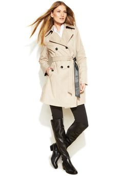 MICHAEL Michael Kors Removable-Liner Trench Coat - women's fashion ...