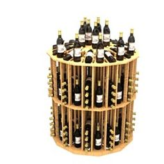 """Commercial Round Aisle - Height 48 inches, Diameter 43 3/8"""", Bottles 204, Columns 12. Click here to view more commercial wine racks http://www.winecellarspec.com/commercial-spec-wine-racks/#. Wine Cellar Specialists  4421 Cedar Elm Circle Richardson, TX 75082  Toll Free: 866-646-7089  Texas Office: 972-454-0480  Illinois Office: 773-234-0112"""