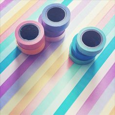 How to turn and IKEA table into a rainbow with washi tape.
