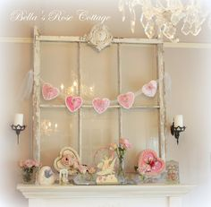 Bella's Rose Cottage: My Valentine's Day Mantle...