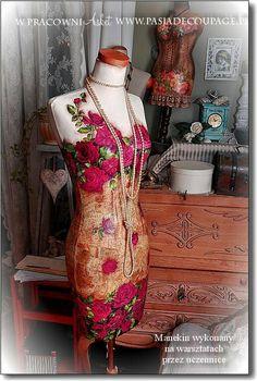 Shabby Chic Mannequin, Vintage Mannequin, Mannequin Art, Dress Form Mannequin, Pretty Dresses, Beautiful Dresses, Decoupage, Manequin, Estilo Shabby Chic