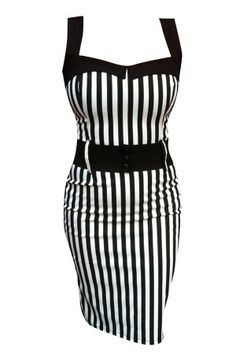 Striped Darling Doll Dress - Rebel Circus  Finally, a flattering, vertically striped dress that I absolutely adore. If only I had the figure to go along with it...and the ability to gracefully wear cute uncomfortable heels without injuring myself...